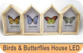 Birds & Butterflies House LED